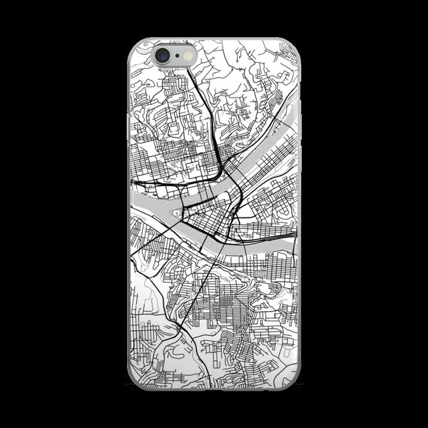 Pittsburgh Map iPhone 5 or 5s Case by Modern Map Art