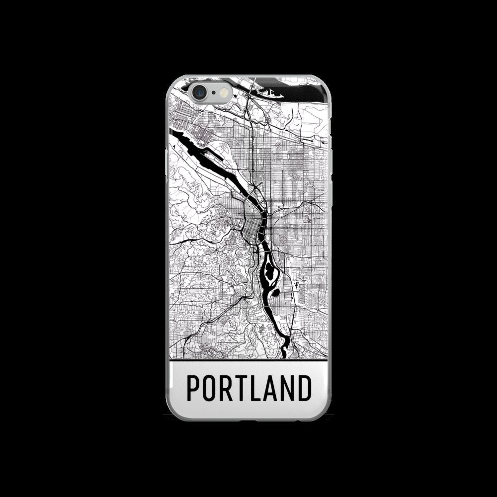 Portland Map iPhone 5 or 5s Case by Modern Map Art