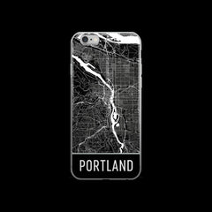 Portland Map iPhone 6 or 6s Case by Modern Map Art