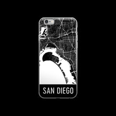 San Diego Map iPhone 6 Plus or 6s Case by Modern Map Art