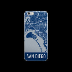 San Diego Map iPhone 7 Case by Modern Map Art