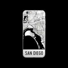 San Diego Map iPhone 5 or 5s Case by Modern Map Art