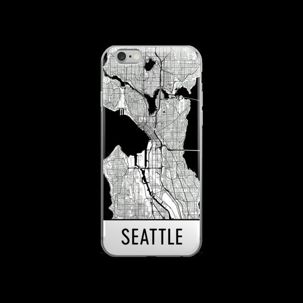 Seattle Map iPhone 5 or 5s Case by Modern Map Art