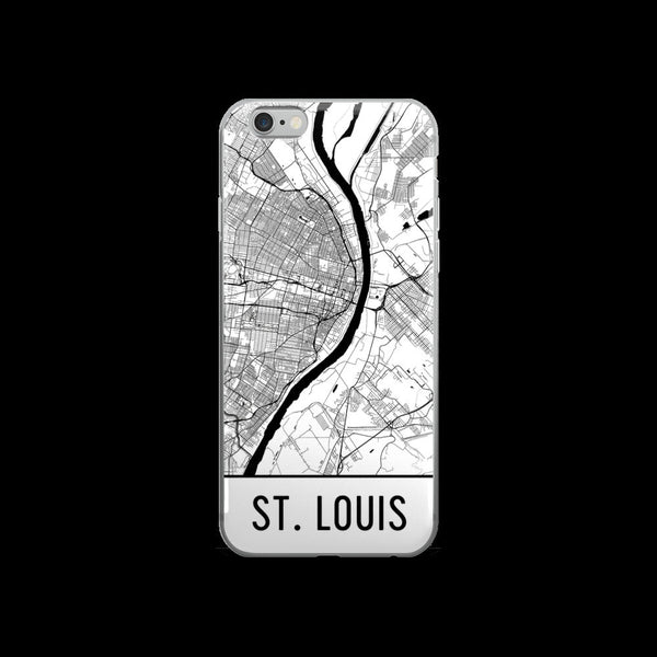 St. Louis Map iPhone 5 or 5s Case by Modern Map Art