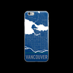 Vancouver Map iPhone 6 Plus or 6s Case by Modern Map Art