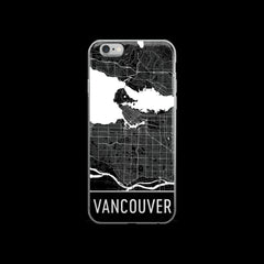 Vancouver Map iPhone 6 or 6s Case by Modern Map Art