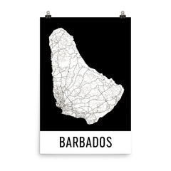 Barbados Street Map Poster Blue