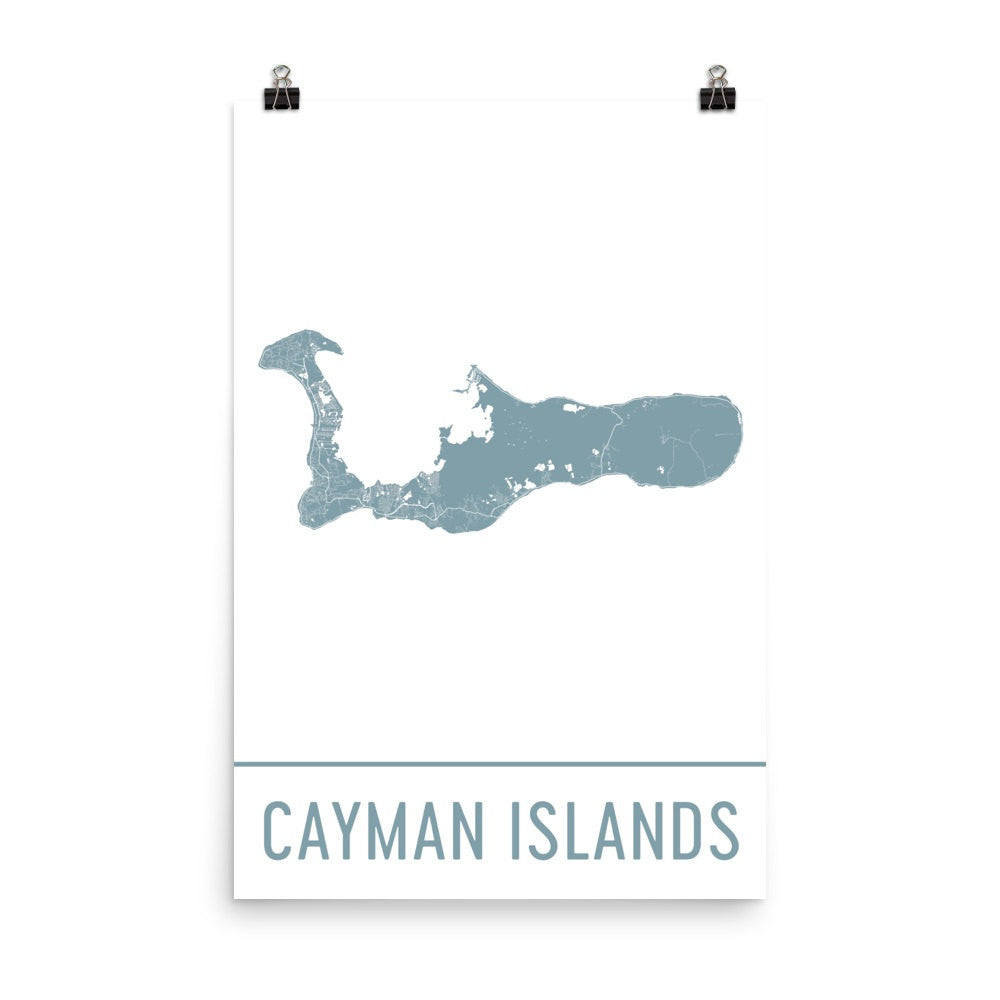 Cayman Islands Street Map Poster Black