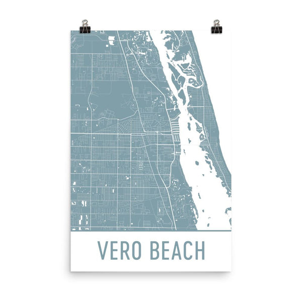 Vero Beach FL Street Map Poster White