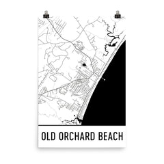 Old Orchard Beach ME Street Map Poster Blue