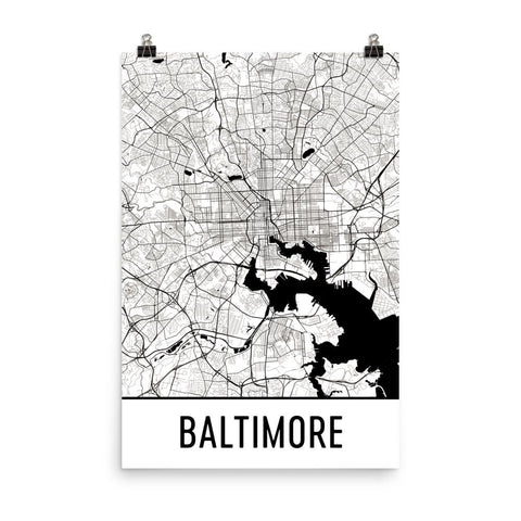 Maryland Gifts, Souvenirs, and MD Décor – Modern Map Art