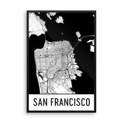 Modern Framed Map, Art, Print, Poster, Wall Art From $59.99 - ModernMapArt - Modern Map Art