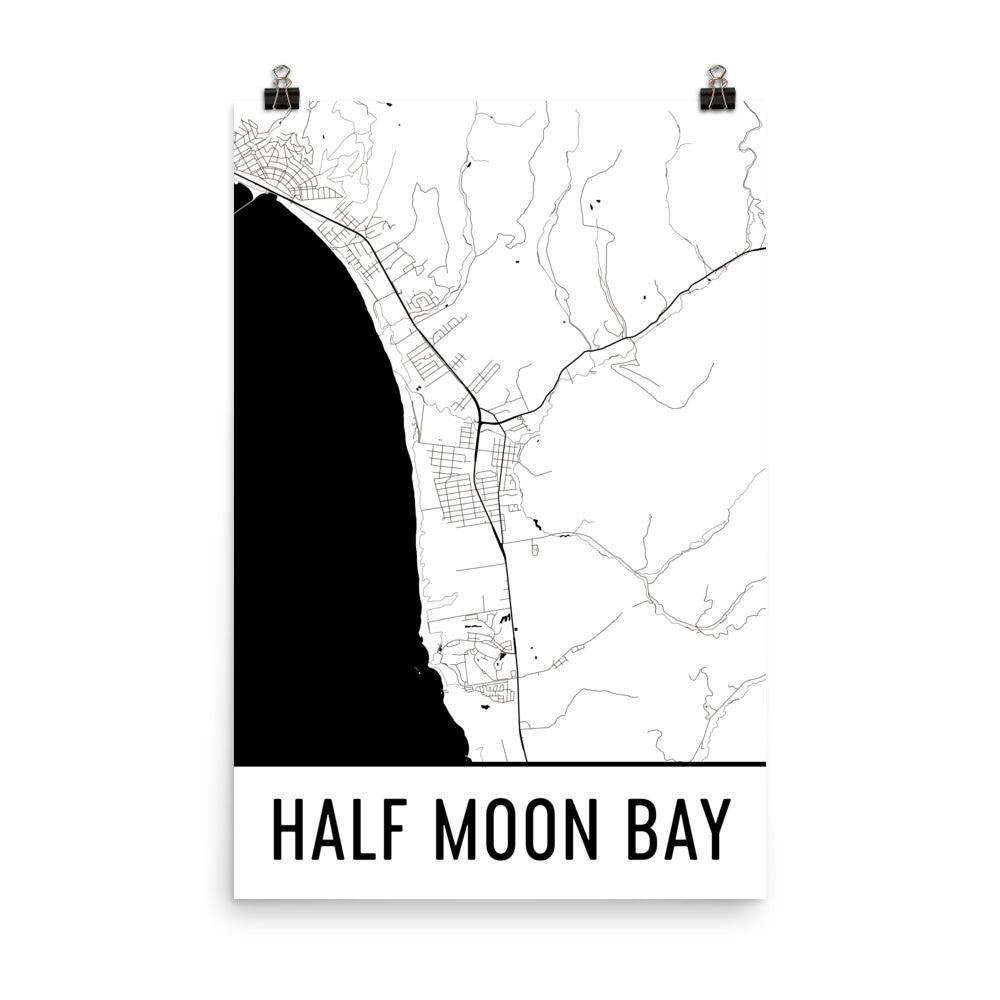 Half Moon Bay CA Street Map Poster Moon Map Poster on the hunger games poster, take the lead poster, miral poster, black sea poster, the signal poster, l.a. confidential poster, midnight sun poster, the men who stare at goats poster, man of steel poster, laggies poster, earth poster, meteorite poster, life is strange poster, two night stand poster, american beauty poster, a.i. artificial intelligence poster, swamp poster, the avengers poster, star trek poster, iss poster,
