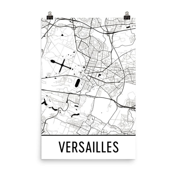 Versailles Street Map Poster White