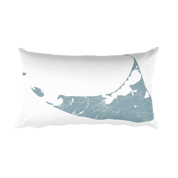Nantucket Pillow, Nantucket Throw Pillow From $39.99 - ModernMapArt - Modern Map Art