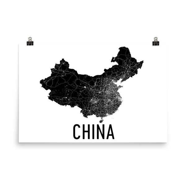 China Map, Art, Print, Poster, Wall Art From $29.99 - ModernMapArt - Modern Map Art