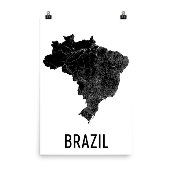 Brazil Map, Art, Print, Poster, Wall Art From $29.99 - ModernMapArt - Modern Map Art