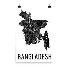 Bangladesh Map, Art, Print, Poster, Wall Art From $29.99 - ModernMapArt - Modern Map Art