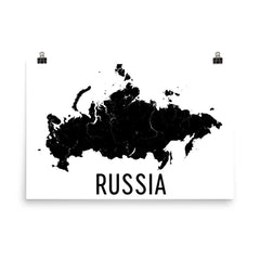 Russia Map Poster - Wall Print Decor by Modern Map Art