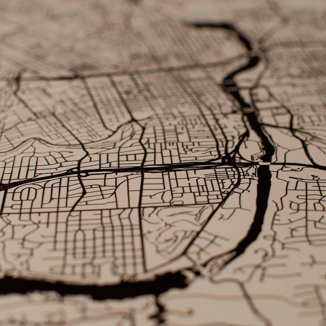 city map print art