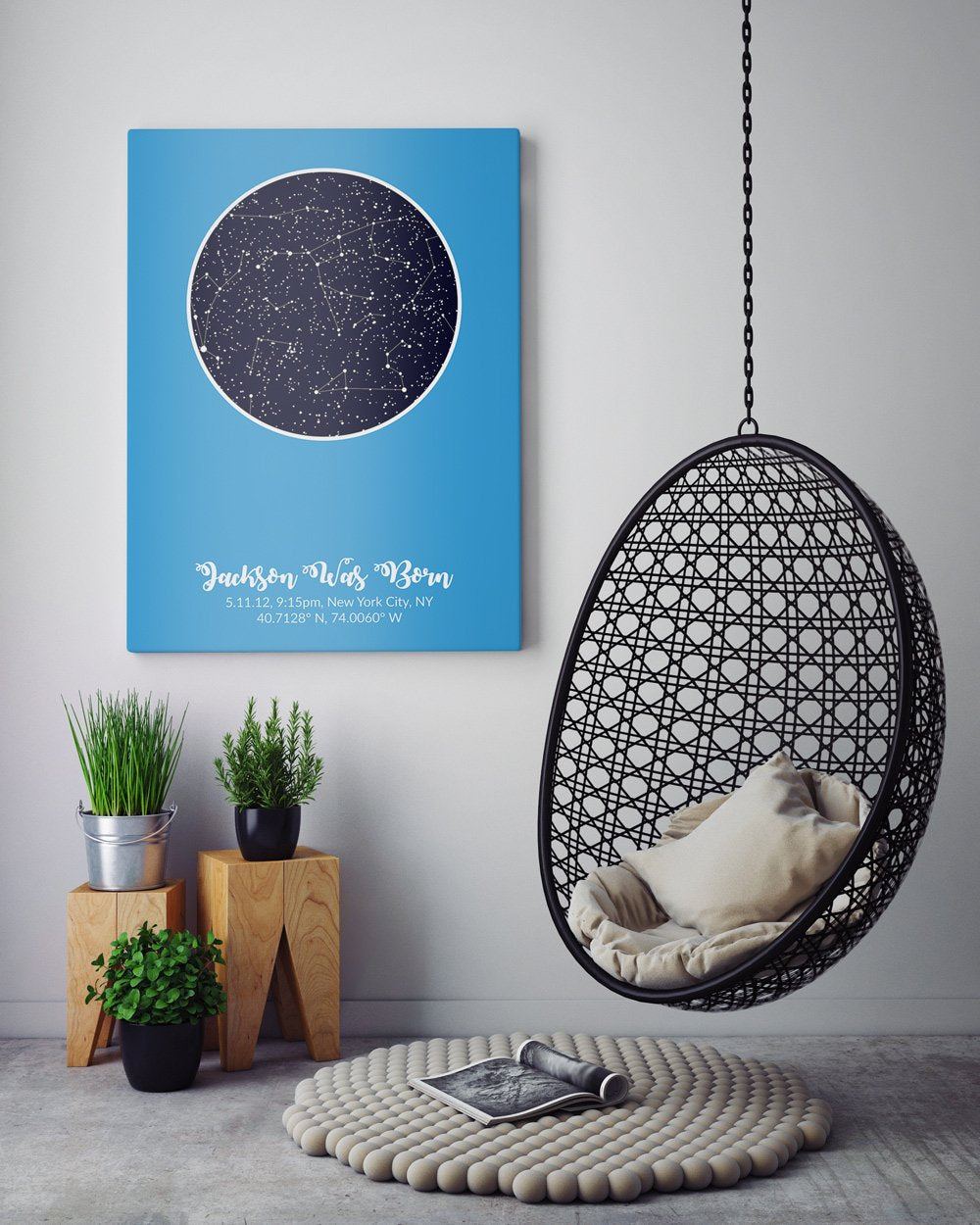 the night sky print