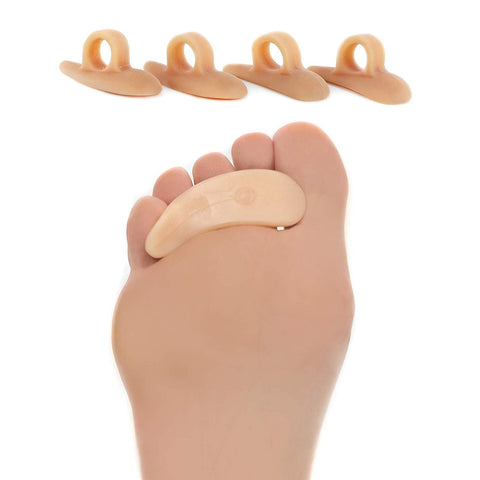 Hammer Toe Straightener and Corrector 4 Pack Crests With Single Loop - ZenToes