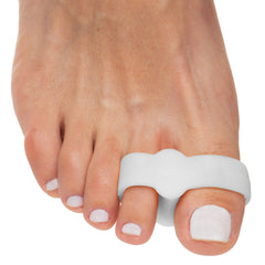 ZenToes Double Loop Big Toe Gel Separator Bunion Straightener Corrector White