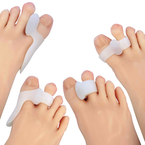 ZenToes Bunion Protector Toe Separator and Spacer Set Gel Corrector Shield Loop