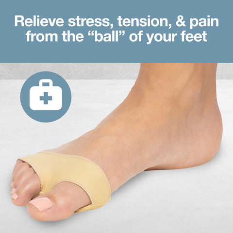 Fabric Metatarsal Sleeve Gel Pads Cushion Ball of Foot (Pair) - ZenToes