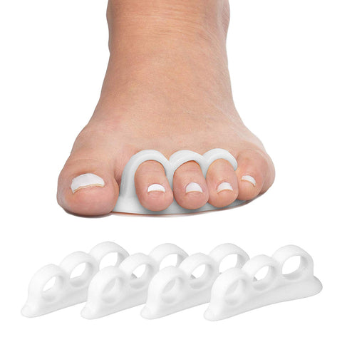 ZenToes Gel Hammer Toe Straightener Separator Crests 3 Loops Triple White