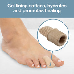 Image of Fabric Gel Lined Toe Protector Caps - 5 Pack - ZenToes