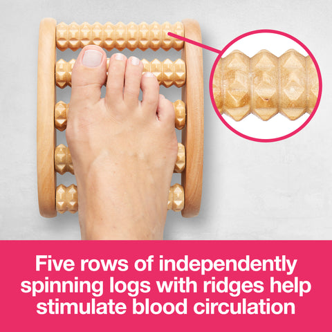 Wooden Foot Massage Roller - ZenToes