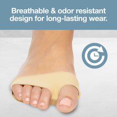 Image of Fabric Metatarsal Sleeve Gel Pads Cushion Ball of Foot (Pair) - ZenToes