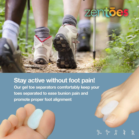 Image of Gel Toe Separators with No Loop - 6 Pack - ZenToes Zen Toes