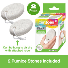 Image of Natural Lava Pumice Stone Pedicure Callus Remover - 2 Pack - ZenToes