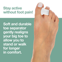 Image of Wholesale Single Loop Toe Spacer for Bunion Pain - 2 Pack - ZenToes