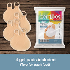 Image of Double Loop Gel Metatarsal Foot Pads - 4 Pack - ZenToes