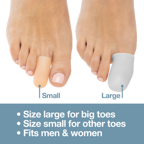 Small Gel Toe Cap and Protector - Pack of 6 - ZenToes Zen Toes