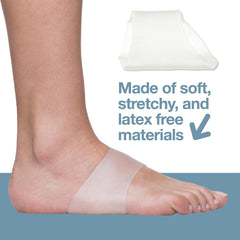Image of Arch Support Gel Sleeves for Plantar Fasciitis - Pack of 2 - ZenToes