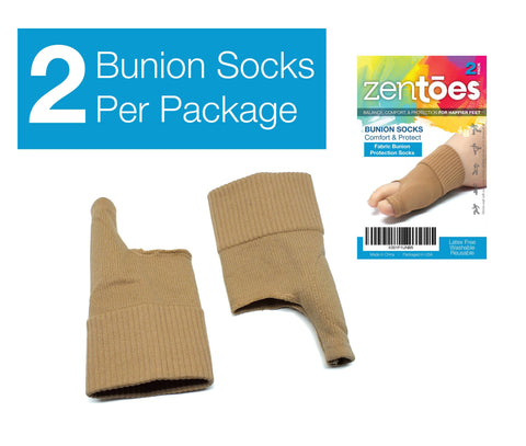 Bunion Cushions Pad Socks Pair of Bunion Guard Sleeves - ZenToes Zen Toes