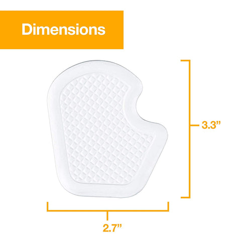 Dancer Pads - Gel Cushions for Metatarsal and Ball of Foot Pain - 4 Pack - ZenToes Zen Toes