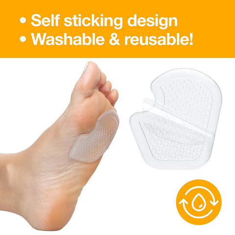 Dancer Pads - Gel Cushions for Metatarsal and Ball of Foot Pain - 4 Pack - ZenToes