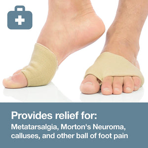 Fabric Metatarsal Sleeve with Sole Cushion Gel Pads - ZenToes