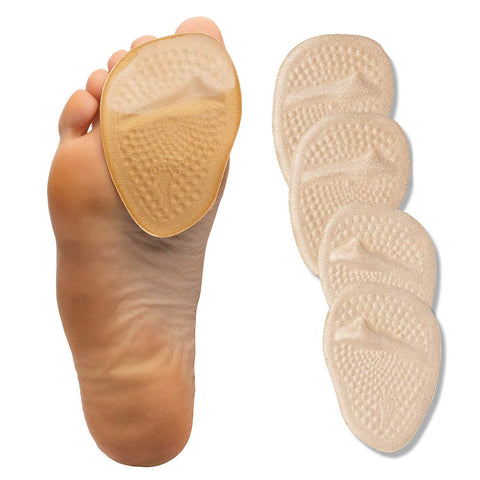 Image of Metatarsal Pads Cloth Covered Gel Ball of Foot Shoe Inserts 4 Pack - ZenToes Zen Toes