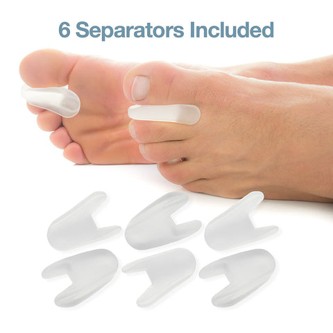 Flared Toe Separators Set of 6 Spacers with No Loop - ZenToes