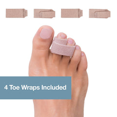 Image of Broken Toe and Hammer Toe Wraps - 4 Pack - ZenToes