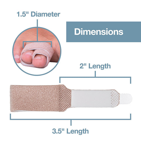 Broken Toe Wraps 4 Pack Cushioned Bandages Hammer Toe Separator Splints - ZenToes Zen Toes