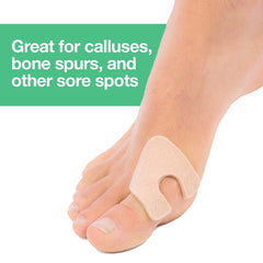 Image of U-Shaped Felt Callus Pads - 24 Pack - ZenToes