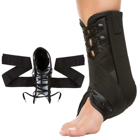 Lace Up Ankle Stabilizer Brace with Compression Straps - ZenToes