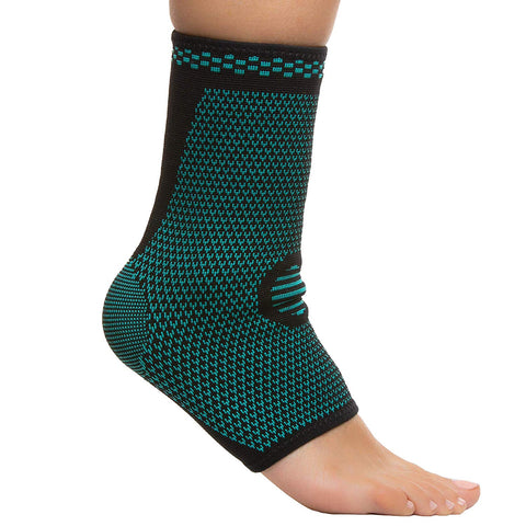 ZenToes Ankle Compression Sleeves Pair Support Socks Small Medium Large XL